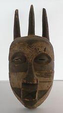 Old Huge, carved wood African Tribal Congo, Tetela horned mask sculpture statue