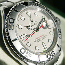 Rolex Yacht-Master 16622 Mens Stainless Steel & Platinum Oyster Platinum Dial