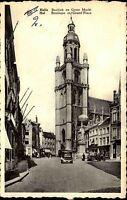 HAL HALLE Grand Place Auto Verkehr alte AK Postkarte Belgien Belgium um 1950