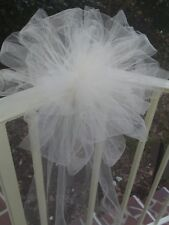SALE 12 IVORY Tulle Wedding  Pew Bows Arche Gazabo Rails  RUSH ORDER AVAIL