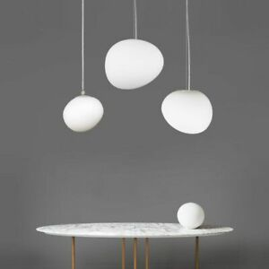 Modern Foscarini White Glass Pendant Lamp Chandelier Ceiling Light Fixture