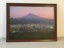 Large incorniciato stampa fotografica del Monte Fuji di montagna cornice IN LACCA GIAPPONESE JAPAN ART