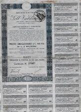 FIRENZE 1950 * SELT VALDARNO * SOCIETA' ELETTRICA BOND D'EPOCA ORIGINALE *