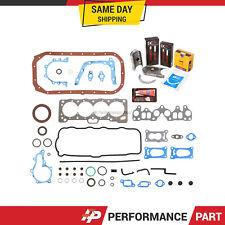 Full Gasket Set Bearings Rings for 86-88 Chevrolet Nova Toyota Corolla 4AC 4ALC
