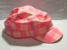 Toddler Girls Pink Plaid Hat by Joe Fresh - Elastic on Back - Size: 4-5 Years
