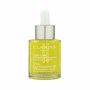 Clarins Lotus Face Treatment Oil 1oz,30ml Anti-Aging Line Skincare Serum #10963