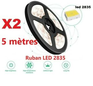 2 rouleaux 5M 300 LED 2835 SMD Strip DEL Bande Ruban lampe Blanc chaud 12V DC