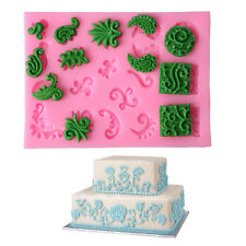 DIY 3D Relief Flower Silicone Cake Molds Fondant Tools Decor Baking Tools Mould
