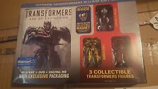 Transformers 4 AGE OF EXTINCTION ESCLUSIVO Blu-Ray + DVD 3 FIGURES + magnete
