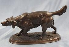 Jagdhund altes hund bronze bronzefigur setter spaniel