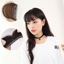 Women's Girl's Straight Thin Fringe Bangs Hair Extension With Clip Hair Pro Hot