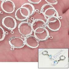 20Pcs Ear Wires Earring Hooks 925 Silver Pendant Connector Findings