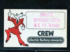 Bruce Springsteen - Tower Theater 1975 - Satin crew pass - Original from EFC