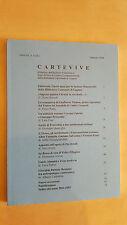 CARTEVIVE Bollettino Archivio Prezzolini Biblioteca Lugano XV n 35 Febbraio 2004