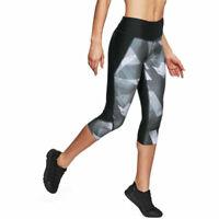 Under Armour UA HeatGear Ladies Printed Capri Fly Fast Gym Sports Leggings