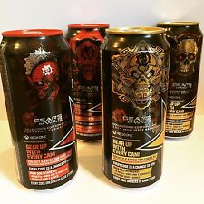 Rockstar Energy Drink Gears Of War 4. Special Code Under Tab. Full 4 Cans Lot