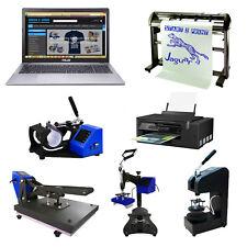 Heat Press Business Sublimation Printer Vinyl Cutter Mug Tshirt Printing Package