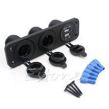 Dual USB Car Cigarette Lighter Socket Splitter Power Adapter Charger 12V Outlet
