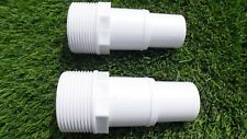 """ONE UNIVERSAL 1.5"""" THREADED HOSE TAIL SLIP 32 mm - 38 mm FOR POOL FLEXIBLE PIPES"""
