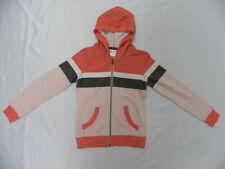 Roxy Girls Stardust Stripe Orange Hoodie Front Zip Sweaters Sz 10 Surf Skate