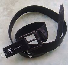 "Rock & Republic Mens L Black Leather Belt BNWT Brand New For Jeans 36"" - 40"" xl"