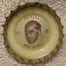 1965 Coke - Fanta - NFL Packers Bottle Cap - Max McGee - Tulane alumni
