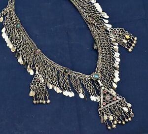 Kuchi Chain Necklace Ethnic Tribal Afghan Dance Boho Gypsy Pendant Kashmiri