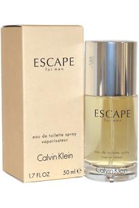 CALVIN KLEIN ESCAPE EAU DE TOILETTE EDT 50ML SPRAY - MEN'S FOR HIM. NEW