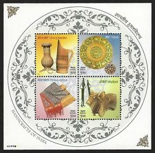 India 2002 Handicrafts MS miniature sheet MNH