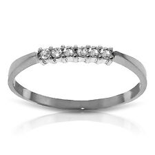 0.1 CTW Platinum Plated 925 Sterling Silver Ring Natural Diamond