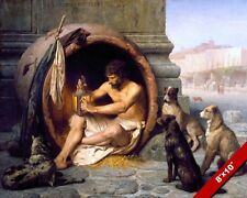 DIOGENES FATHER OF CYNIC PHILOSPHY GREEK OIL PAINTING ART REAL CANVAS PRINT
