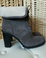 Clarks Keswick Film Suede Ankle Boots, 6/39, Taupe, NEW