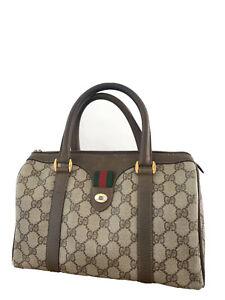 Vintage 1983 Gucci Monogram Boston Handbag Y2K Classy Fashion Made In Italy Gem!