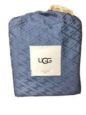 UGG Coro Textured Diamond Duvet Cover in Denim Blue 100% Cotton King $250