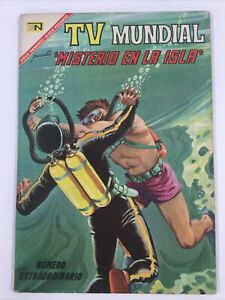 1967 SPANISH COMICS TV MUNDIAL # EXTRAORDINARIO MISTERIO EN ISLA NOVARO MEXICO