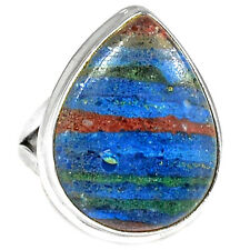 Rainbow Calsilica 925 Sterling Silver Ring Jewelry s.8 RBCR425