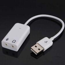 3D 2.0 red virtual 7.1 Canales De Audio Usb Externo Tarjeta De Sonido Adaptador De Cable