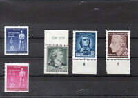 Briefmarken DDR 1955 MiNr. 459A-460A und 464A-466A