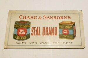 Vintage Chase & Sanborn's Seal Brand Coffee Tea Advertising Ink Blotter