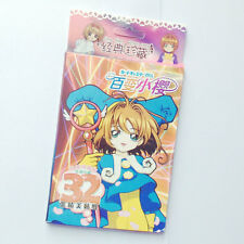 32pcs/Box Card Captor Sakura Anime Stickers Paper Kawaii Children Classic Toys