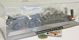 Roco Minitanks 840:  Panzertransporter M26 & Sherman Kpz.