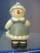 Midwest Of Cannon Falls Resin Girl Snowman Figure Carrying A Teddy Bear