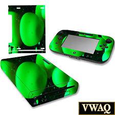 Wii U Green Skins Cover Nintendo Wii U Lava Lamp Sticker Skin Decal VWAQ-WGC10