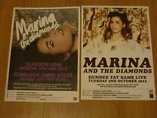Marina And The Diamonds - Scottish tour concert gig posters x 2