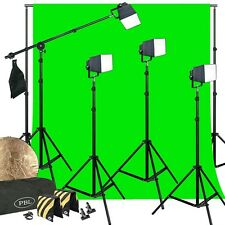 LED PowerLights Photo Video Kit Softbox Boom Chromakey Support System Sandbags