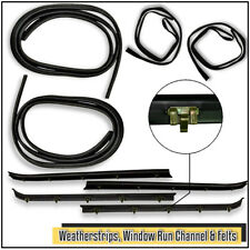 New Set of 8 Window Run Sweep Felts Weatherstrip Seals Kit For Chevy GMC Trucks