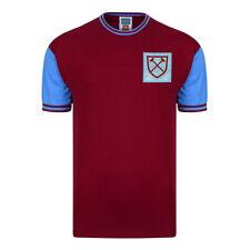 West Ham United 1966 No6 Retro Football Shirt 100% COTTON Men's