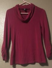 Spense Knits Womens Sweater Size M Slouch collar neck top red