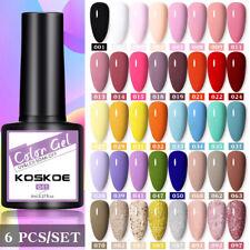 6Pcs/Set 8ml koskoe UV Esmalte Gel de Color Conjunto de Gel Soak Off Esmalte Gel UV uñas Hágalo usted mismo
