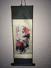 Famoso asiático chino antiguo paisaje pintura de flores de seda desplazamiento Regalo De Cumpleaños